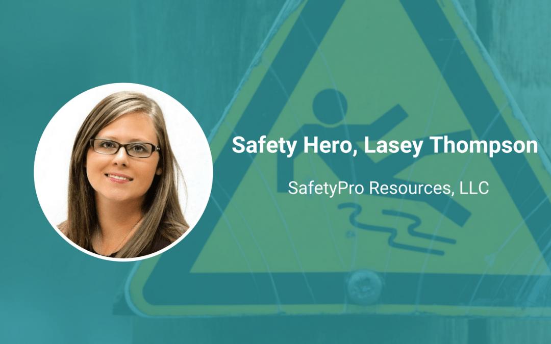 ireport safety hero Lasey Thompson, Senior HSE Advisor and Training Coordinator