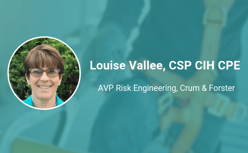 Louise Vallee CSP CIH CPE ireportsource safety hero