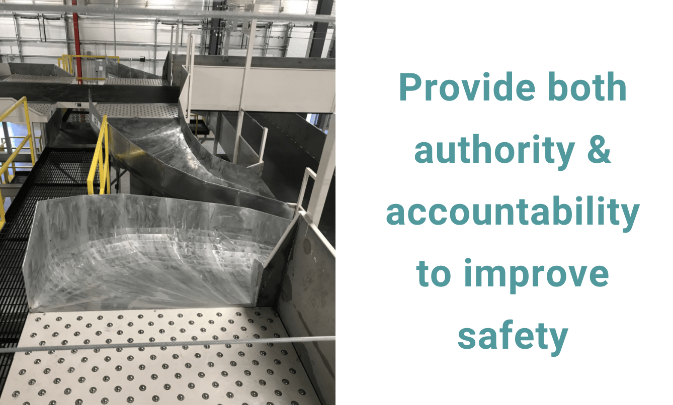 provide authority to your employees to improve safety